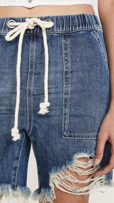 One Teaspoon Shabbies Drawstring Boyfriend Shorts