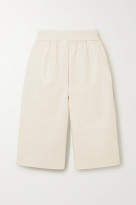 Nanushka Yolie Vegan Leather Shorts - Off-white