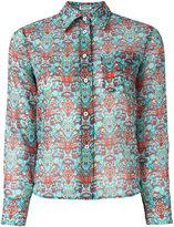 Miu Miu folk print shirt - women - Cotton - 36