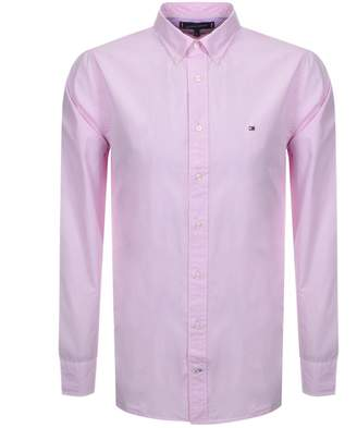 Tommy Hilfiger Long Sleeved Poplin Shirt Pink