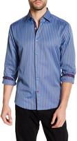 Stone Rose Birdseye Stripe Regular Fit Shirt