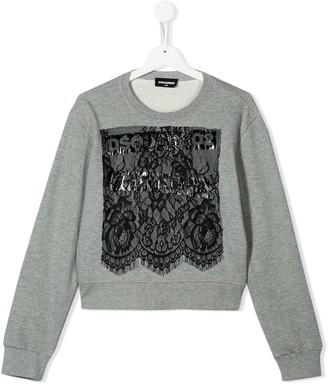 DSQUARED2 Lace Detail Sweatshirt