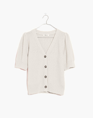 Madewell Short-Sleeve Cardigan Sweater