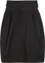 High waisted twill skirt