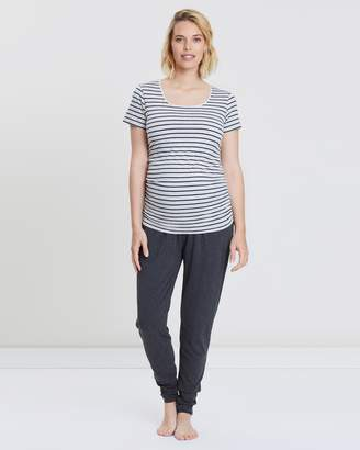 Angel Maternity Maternity Tee & Lounge Pants Outfit