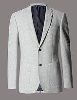 Autograph Wool Rich Textured 2 Button Jacket With Silk