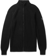 Belstaff Parkgate Slim-fit Knitted Cotton Zip-up Cardigan