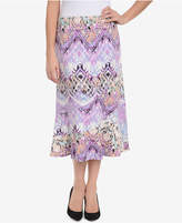 NY Collection Printed Midi Skirt