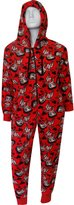 WebUndies.com Betty Boop Plush One Piece Hoodie Pajama for women
