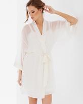 Soma Intimates Chiffon Short Robe Ivory