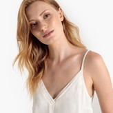 La Redoute Collections V-Neck Cami with Pleated Trim