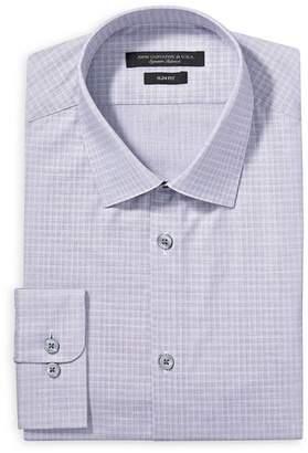 John Varvatos Graph Check Slim Fit Dress Shirt