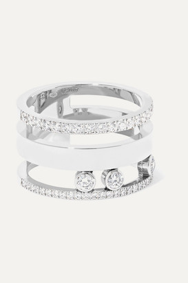Messika Move Romane Large 18-karat White Gold Diamond Ring