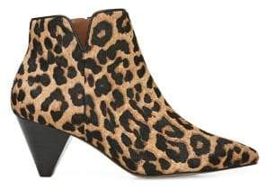Franco Sarto Dare Leopard-Print Calf Hair Booties