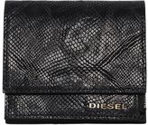 Diesel Snake Embossed Leather Flap Wallet