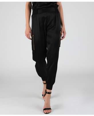 ATM Anthony Thomas Melillo Silk Cargo Sweatpants - Black