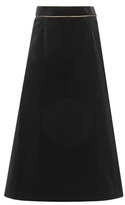 Saint Laurent Angie Velour Midi Skirt
