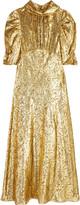 Michael Kors Paisley metallic fil coupé dress