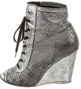 Chanel Metallic Perforated Boots