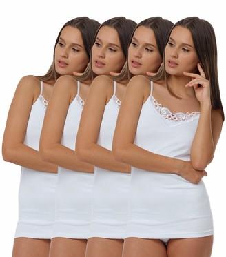 Van Cleef & Arpels n's Vest Undershirt with lace 100 % cotton - certified Oeko-Tex Standard Size 12/14