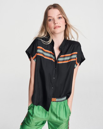 Rag & Bone Isadora short sleeve top