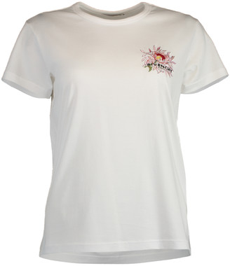 Givenchy Embroidered White T-Shirt