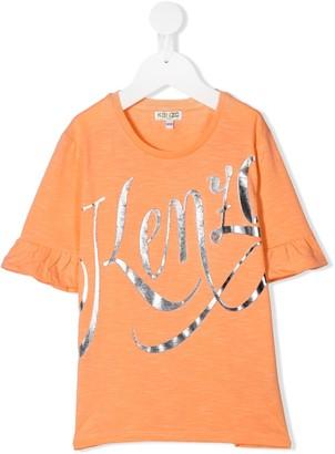 Kenzo Kids cotton logo print T-shirt