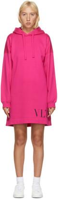 Valentino Pink VLTN Hoodie Dress