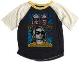 Rowdy Sprout Baby Boy's Kurt Cobain Short Sleeve Raglan Tee