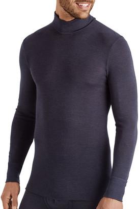 Hanro Men's Wool-Silk Turtleneck T-Shirt