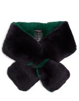 Yves Salomon Bi-colour rabbit-fur scarf