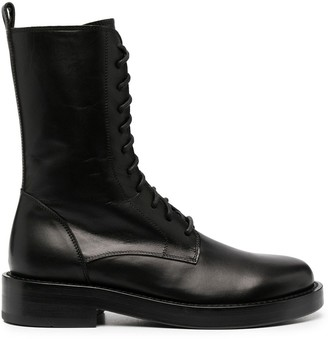 Ann Demeulemeester Polished Military Boots