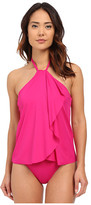 Lauren Ralph Lauren Beach Club Hi-Neck Flyway One-Piece w/ Soft Cup