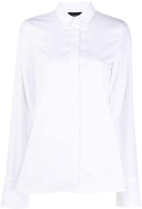 Emporio Armani Oversized Cuff Long-Sleeved Shirt