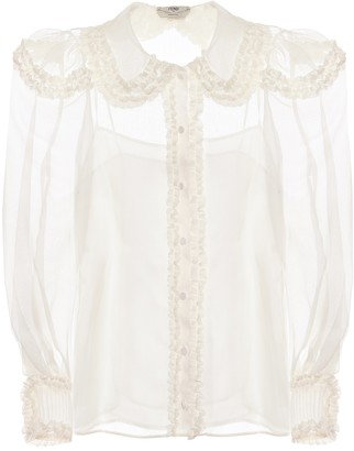Fendi Sheer silk blouse