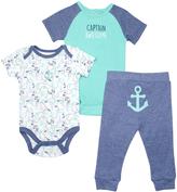 Cutie Pie Baby Blue Nautical Bodysuit Set - Infant