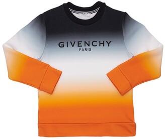 Givenchy Gradient Logo Print Cotton Sweatshirt