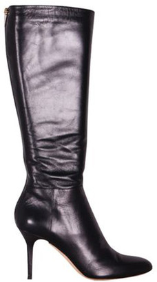 Jimmy Choo Kirby Leather Calf-Length Boots Size 40