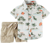 Carter's Palm Tree Shirt and Shorts Set - Baby Boys newborn-24m