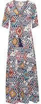 Figue Kalila Gathered Printed Silk Crepe De Chine Maxi Dress
