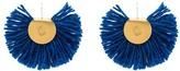 Katerina Makriyianni 24K yellow gold plated fan earrings