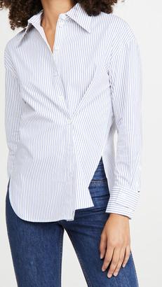 Tibi Split Cuff Oversized Shirt