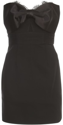 Self-Portrait Tailored Crepe Bow Mini Dress