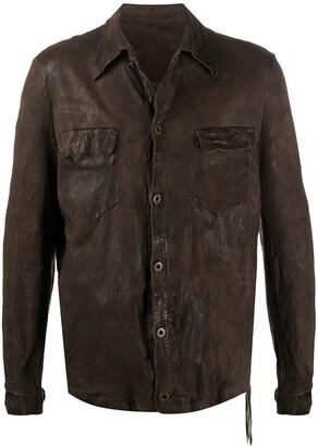 Salvatore Santoro Creased Shirt Jacket