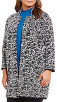 Chelsea & Theodore Plus Bracelet Sleeve Cardigan Jacket