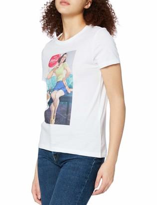 Only Women's ONLCOKE Life REG S/S Retro TOP Box JRS_1 T-Shirt