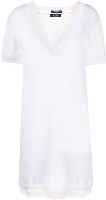 Twin-Set Twin Set layered lace T-shirt dress