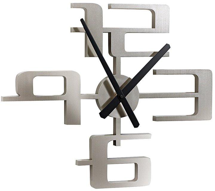 """Umbra Big Time 18"""" Clock Nickel-Nickel"""