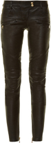 Balmain Skinny-leg leather biker trousers