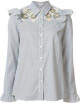 Suno embroidered ruffle blouse - women - Cotton - 2